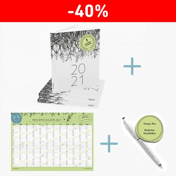 Business Planner 2021 + Wandkalender + Frixon Pen