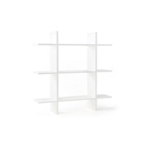Wandregal 3 Ebenen 70x70 cm weiß