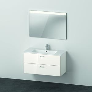 Duravit X Base Möbelset mit Spiegel 1030 mm weiss glänzend