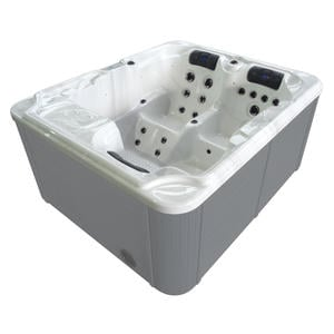 MEI BAD Premium Outdoorwhirlpool weiss
