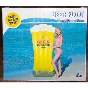 "Aufblasbare Luftmatratze ""Bier Glas"" Style ~180x90 cm"