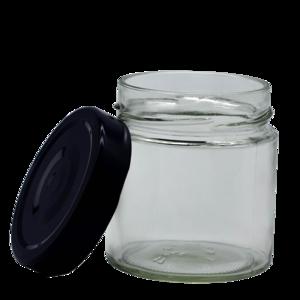 Marmeladeglas - Rundglas 212ml, deep mit Deckel, 12 Stück