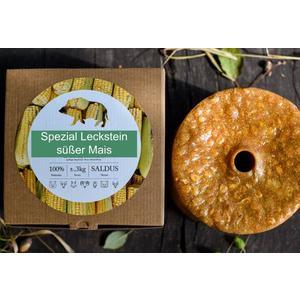 """Wildlutscher® Leckstein """"Süßer Mais"""" für alle Wildarten (3 kg) im Karton"""