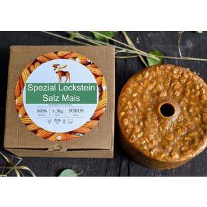"""Wildlutscher® Leckstein """"Salz Mais"""" für alle Wildarten (3 kg) im Karton"""