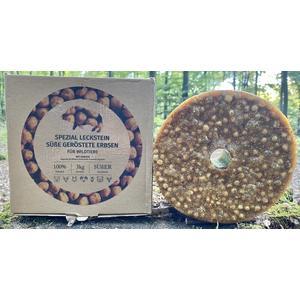 """Wildlutscher® Leckstein """"geröstete Erbsen"""", speziell für Schwarz-, Schalen- u. Raubwild (3kg)"""