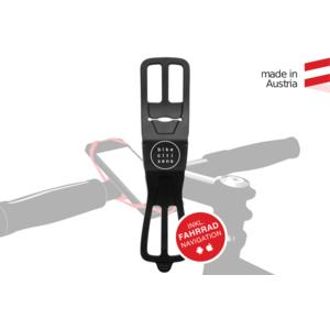 Finn, die universelle Smartphone Halterung (Schwarz) - für jedes Fahrrad und jedes Handy!