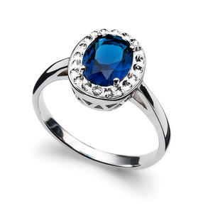 Ring Pure 925AG RH sapphire S