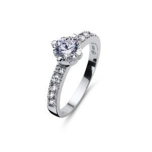 Ring Relate 925AG RH CZ WHI L