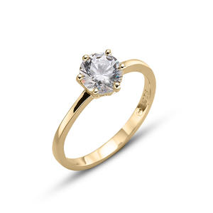 Ring Brilliance large 925AG GP CRY L