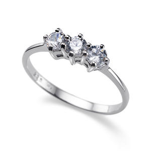 Ring Simple Three 925AG RH CRY M