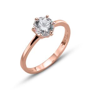 Ring Brilliance large 925AG RG CRY S
