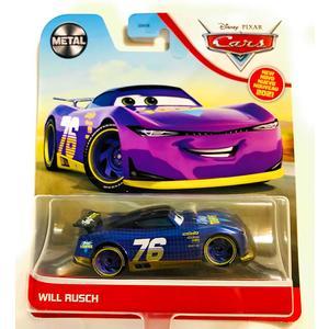 Cars 3 Disney Pixar Will Rusch #76 Purple Vinyl Toupee Car Character Vehicle Die Cast Metal