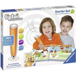 Ravensburger tiptoi Starter-Set 00806: Stift und Wörter-Bilderbuch - Lernsystem für Kinder ab 3 Jahren + 2x Tiptoi Create Sticker