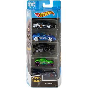 Hot Wheels Batman Fahrzeuge, 5er Pack