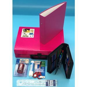 Handarbeitskoffer Mehrzweckkoffer Schulstarter Set donki, pink