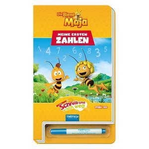 74263 Buch, Die Biene Maja, Malen nach Zahlen, ca. 14x24cm, 28 Seiten, Pappebuch mit Stift, Trötsch Verlag