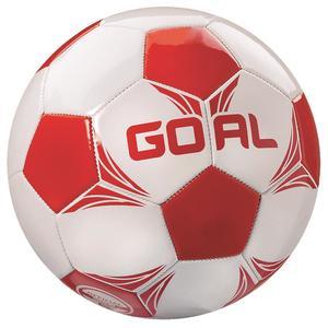 13832 Leder Fußball Goal Größe 5 Farbe weiß/rot