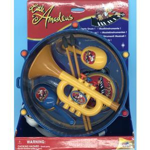 42264 Musik Instrumente Set 5 Teile, Trommel, Trompete, Little Amadeus,