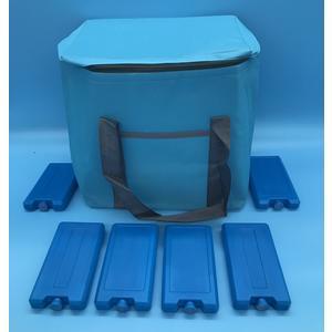 91611 Set Kühltasche 20 Liter + 6 Kühlakku a`200g Farbe: blau