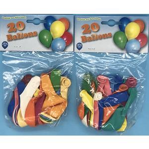 Luftballon 20 Stück sortiert ca. 15-18cm, 2x20 Stück (40 Stück)