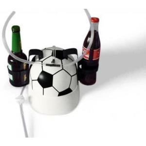 Trinkhelm Fußball mit Getränkehalter (ohne Getränke)