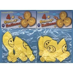 Luftballon Sunny 2x4 Stück (8 Stück) ca.28cm