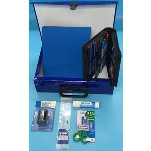 Handarbeitskoffer Mehrzweckkoffer Schulstarter Set donki, blau