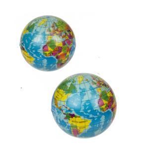 Soft Springball Globus, Weltkugel, ca. 7,5cm, 2 Stück