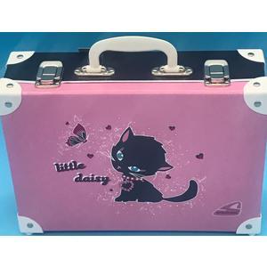 49930 Handarbeitskoffer, Allzweckkoffer, Katze, Little Daisy, ca. 33x23x10cm,