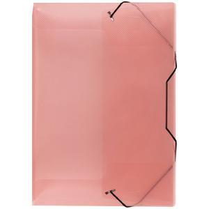 40508 Heftbox Heftmappe Dokumentenmappe transparent A4 mit Gummizug rot