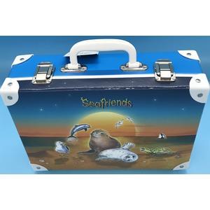 49544 Handarbeitskoffer, Allzweckkoffer, Seafriends, ca. 33x23x10cm,