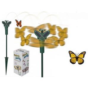 57/9795 Rotierender Schmetterling mit Solarzelle ca.7,5cm gelb