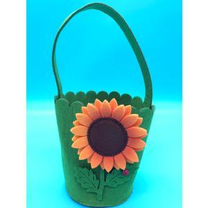 Filz Tasche mit Tragegriff Motiv: Sonnenblume