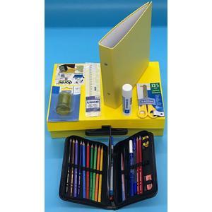 Handarbeitskoffer, Mehrzweckkoffer Schulstarter Set donki, gelb