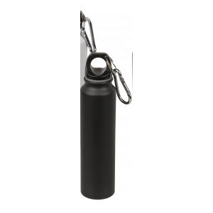 Trinkflasche für ca. 220ml, ca. 19cm aus Aluminium im Geschenkkarton Farbe schwarz