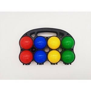 7107-0000 Boccia Spiel Set mit Tragegriff, 8 Kugeln ca. 7cm + 1 kleine Kugel