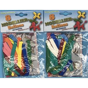 Modellierballon 2x8 Stück (16 Stück) mit Anleitung