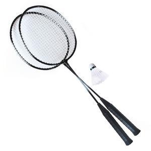 480020 Federball Set für 2 Spieler, 2 Schläger und 1 Federball im Netzbeutel