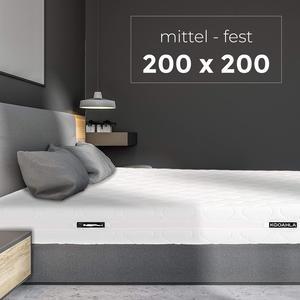 KOOAHLA 200x200x20cm Wendematratze – MITTEL/FEST