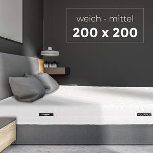 KOOAHLA 200x200x20cm Wendematratze – WEICH/MITTEL