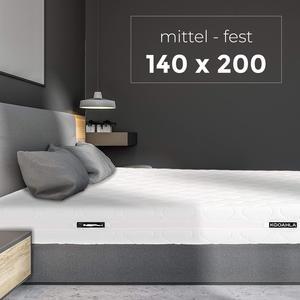 KOOAHLA 140x200x20cm Wendematratze – MITTEL/FEST