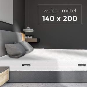 KOOAHLA 140x200x20cm Wendematratze – WEICH/MITTEL