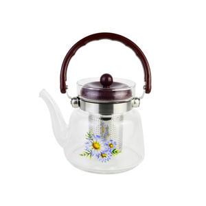3-teiliges Teekannen-Set aus Glas, 800 ml, mit Sieb, Teekanne für Kaffee, Milch, Beuteltee und frischen Tee