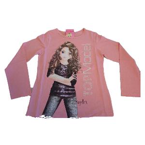Top Model Shirt Langarm rosa