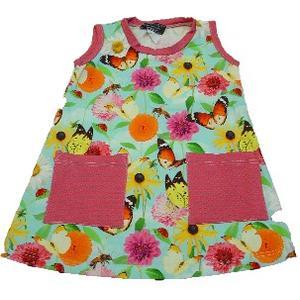 Eveline Strasser Haubenhex Kleid ärmellos Blumen Schmetterling