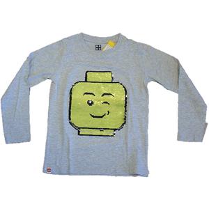 Lego Langarm Shirt grau Wendepailletten