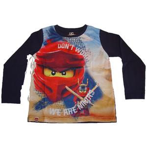 Lego Langarm Shirt Frontprint Ninjago marine