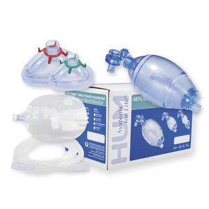 Beatmungsbeutel SET Beutel mit Ventilen, 2 Masken Größe 3 und 5 Reservoirbeutel und Sauerstoffschlauch