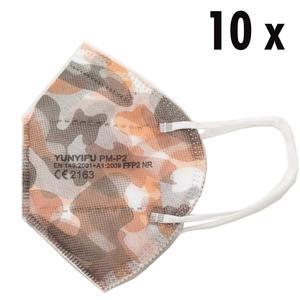 10 x FFP2 Masken camouflage