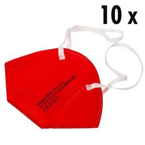 10 x FFP2 Masken rot